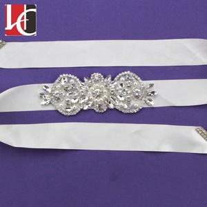 HC-3118 Factory wholesale price rhinestone applique belt for wedding dress
