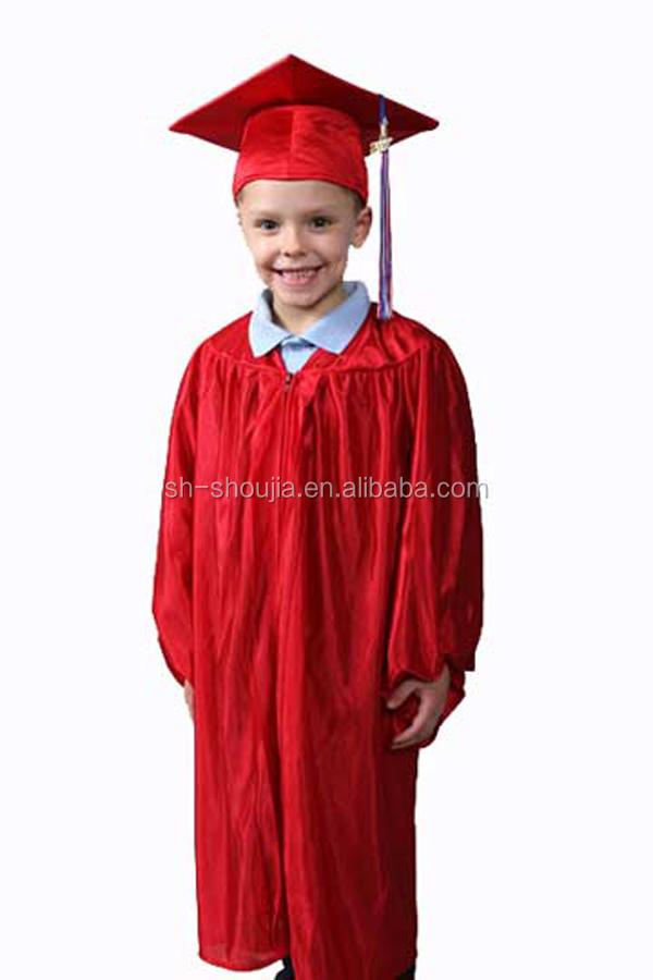 7d01ce43db2 Boys Girls Kids Graduation Gown   Cap Fancy Dress Costume 3-5   5-7 ...
