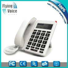Wireless big button VOIP ip telefono desk phone with big LCDand USB port FIP12W