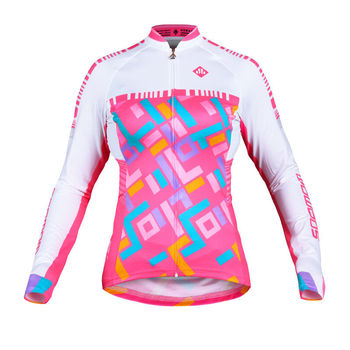 Women s bright pink cheap wholesale breathable quick dry hot sale bike  clothes custom cycling jersey no b408bf53f