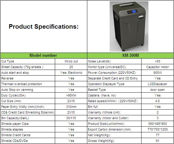 paper shredder machine specification - photo #49