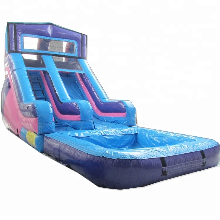 TOP inflatable water kids <strong>slide</strong> with pool toboggan juegos gonflable toys for rental party event China guangzhou