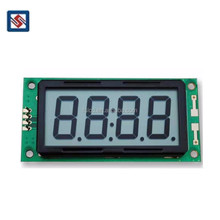 Customized TN HTN STN FSTN Supplier 7 Segment 4 Digit Transparent Lcd Clock Display Screen Module for Instrument
