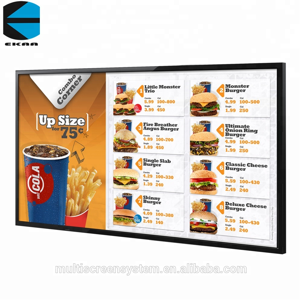 75 inch Wall Mount Advertising Display,led digital signage 3G/ WIFI
