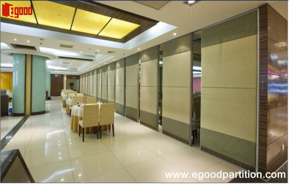 Fabric Leather Full Padding Acoustic Operable Wall In Banquet Hall ...