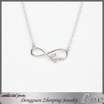 Silver Infinity Hope Necklace Eternity Stainless Steel Necklace