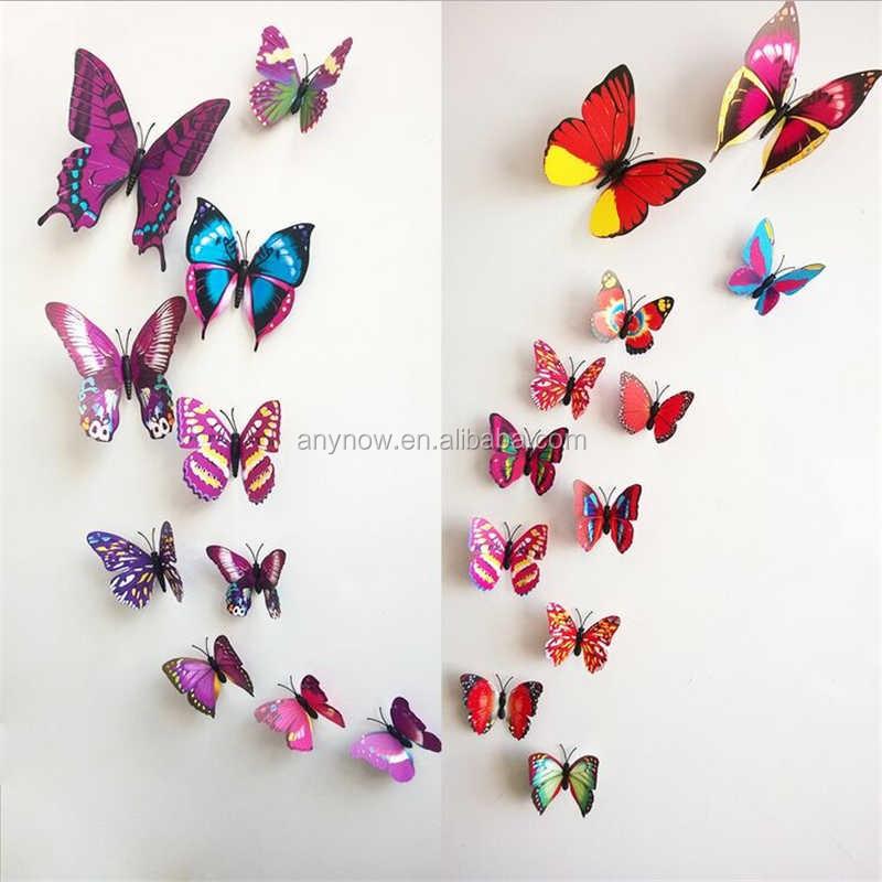 Amovible Pvc 3d Papillon En Relief Autocollant Mural - Buy ...