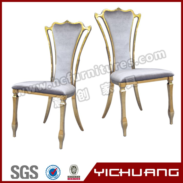 modern cheap gold stainless steel dining room chair YCX-SS07