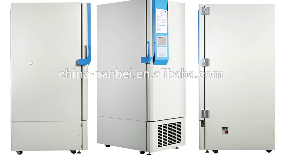 Touch screen display cryogenic low temperature upright freezer