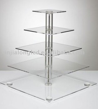 acrylic 5 tier wedding cake stand buy wedding cake stand square