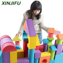 Colorful EVA foam building blocks educational construction toy stackable block model toy for children