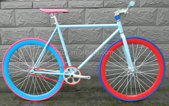Factory directly colorful 700c fixed gear <strong>bicycle</strong> fixie <strong>bicycle</strong> made in China