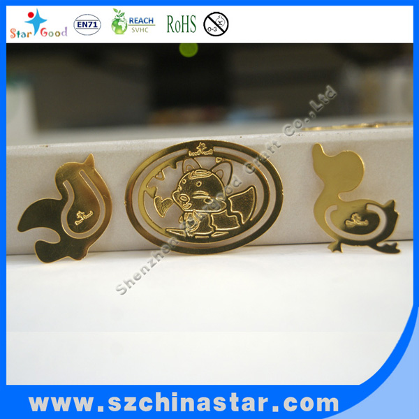 2013 good looking golden shapes and cute marks bookmark