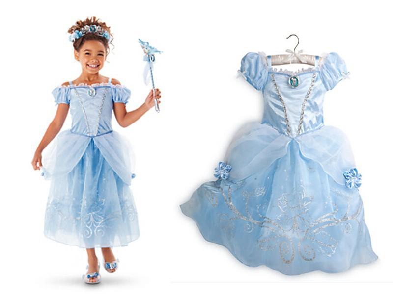 New Girls Cinderella Dresses Children Snow White Princess Dresses ...