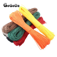 GEGEDA Dia. 2mm one stand Cores Paracord for Survival Parachute Cord Lanyard Camping Climbing Camping Rope Hiking