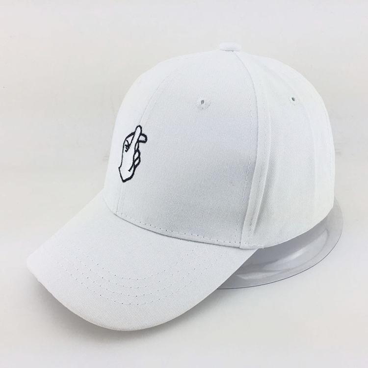7a276deb053 Cinta Gerakan Jari Menyulam Golf Baseball Cap Pria Wanita Snapback Topi  Sirip Kecil Hati Cinta Matahari
