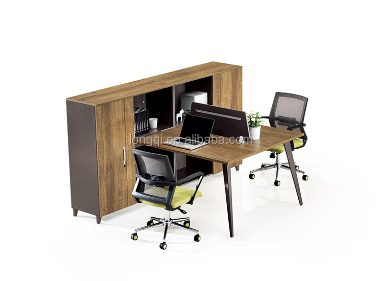 Latest Design Fine Workmanship Modular Staff Table 2 Person Office  Workstation