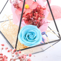 Delicate Square preserved roses Fresh Flower Clear Acrylic rose box
