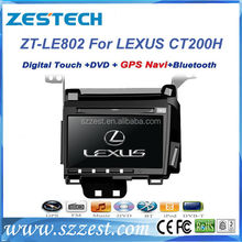 "ZESTECH dvd gps player audio 8"" car navigation for Lexus CT200H car navigation system with dvd gps"
