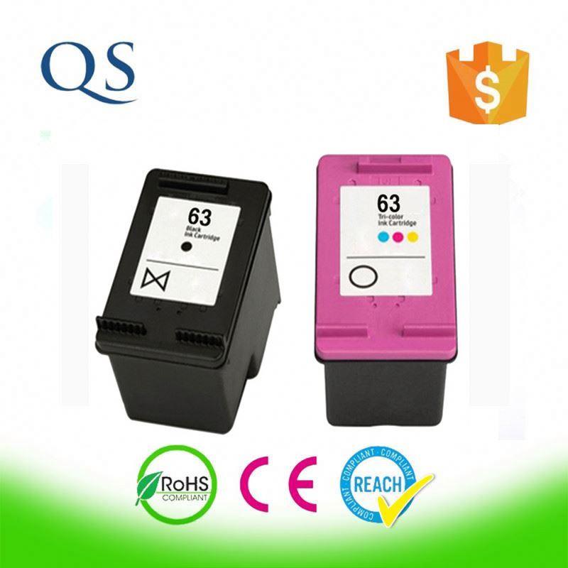 Trade assurance Compatible Cartridge inkjet 63black and color for HP made in China