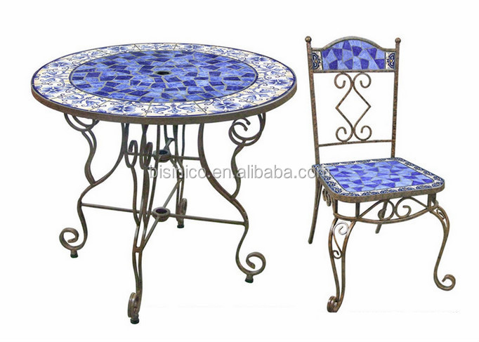 Favorite Mexico Style Garden Table And Chairs,Outdoor Wrought Iron And  WK55