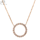 Newest designer statement necklace high quality Simple real diamond Elegant 18k rose gold necklace