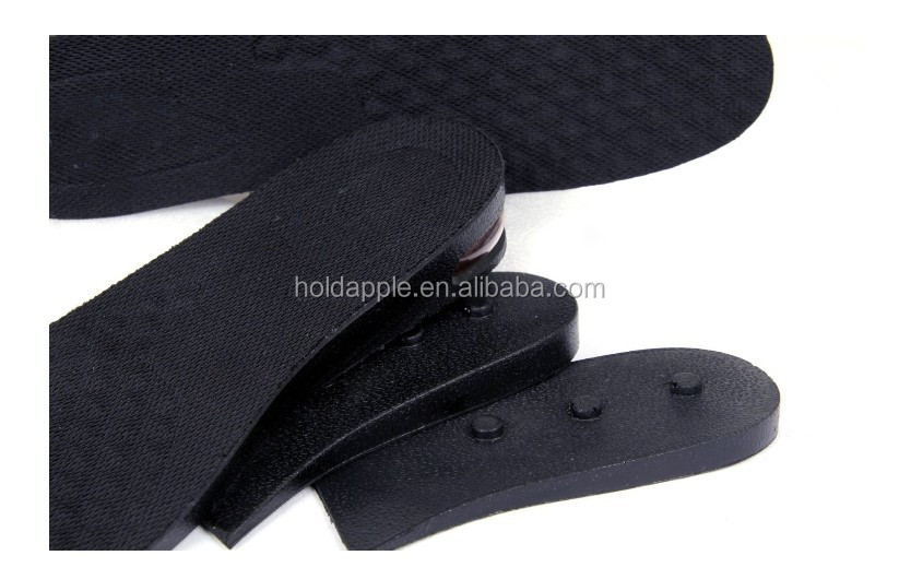 3-Layer Shoe Insoles Air Cushion Height Increase Heels Lift Kit Insert for Men HA00604