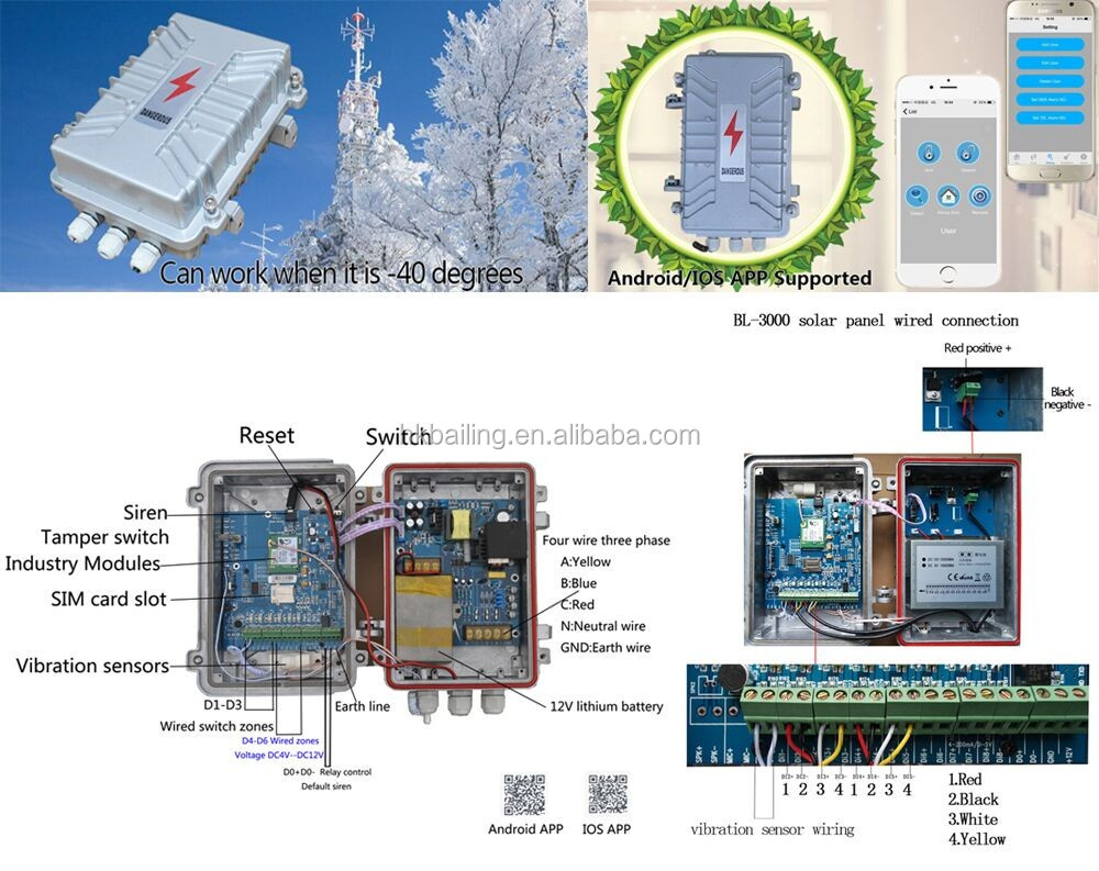 Three Phase Four Line Detection Gsm Power Alarm System Transformer Wiring Diagram Vandalism