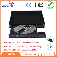 External 12.7mm USB 3.0 Blue Ray DVDRW/ DVD COMBO / CD RW Drive sata hard drives