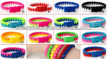 Warna permen Gaya Warna Ganda Ritsleting Gelang Hip Zip Gelang <span class=keywords><strong>Punk</strong></span> Kid Perhiasan