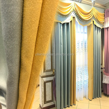 Luxury Sheer Turkish Curtains European Style With Valance Curtain In Guangzhou