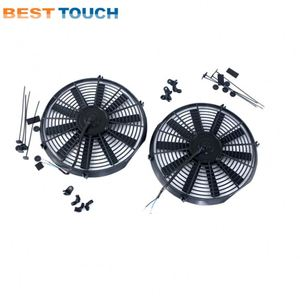 RX-2 12A/B 1146cc Engine 1970-1978 aluminum radiator 24V car interior cooling fan for MAZDA