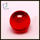 6mm Glossy Ruby Hollow Glass Ball With Hole For Sale