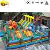 PVC material and castle type adult inflatable bouncy castle with slide jumping castle