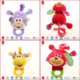 2016 Colorful barney stuffed animals plush baby toy pull bark baby toys