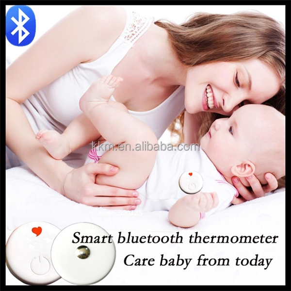 2016 CR1632 battery baby bluetooth thermometer eco-friendly support smart phone app, remote temperature monitoring