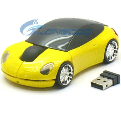 High Quality 2.4gh 3D Car Wireless Mouse Without Battery For PC & Laptop