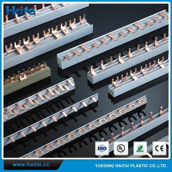 Haitai Brand Terminal Block Connector Copper Busbar With Pin Or Fork Type -  Buy Busbar,Copper Busbar,Pin Or Fork Type Copper Busbar Product on