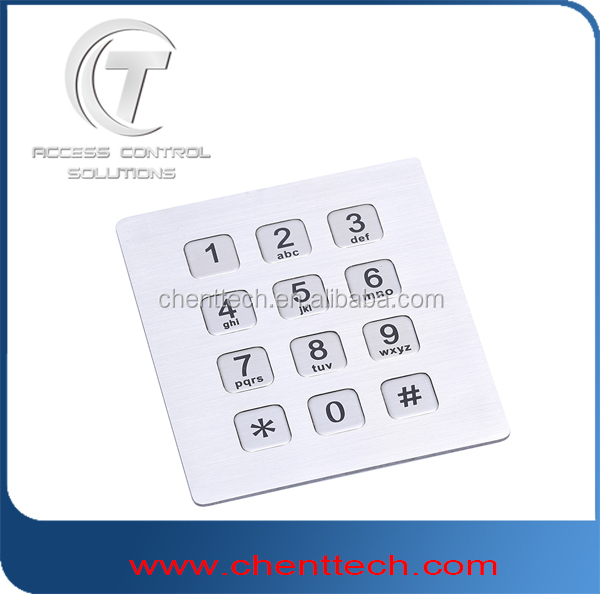 new style front mounted inox keypad 4x4