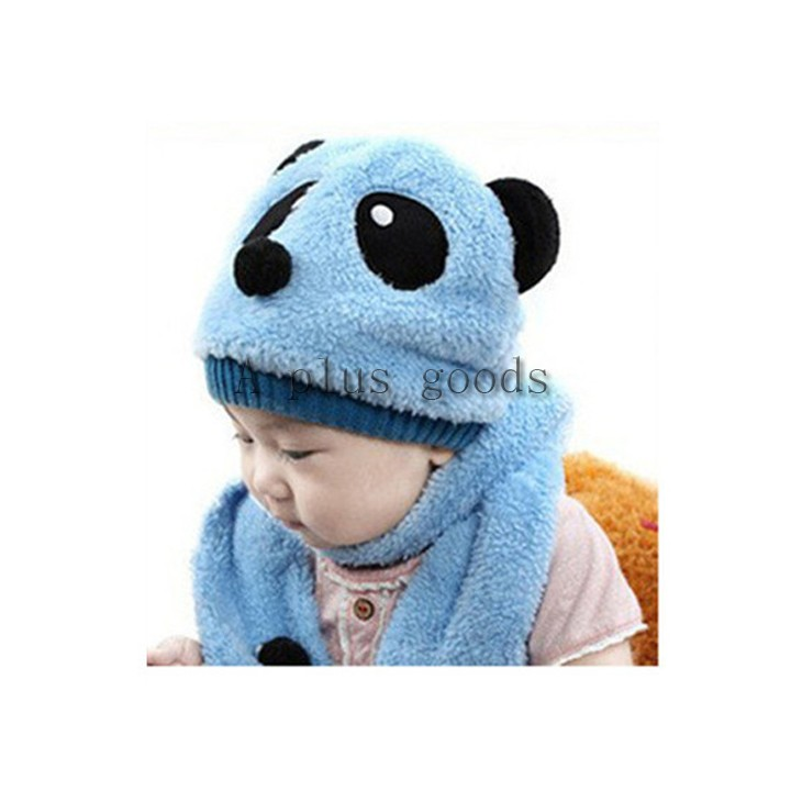 0a34f34c59b Get Quotations · Fashion New Winter Warm Hat Children Skullies   Beanies Scarf  Hat Set Baby Boys Girls Panda
