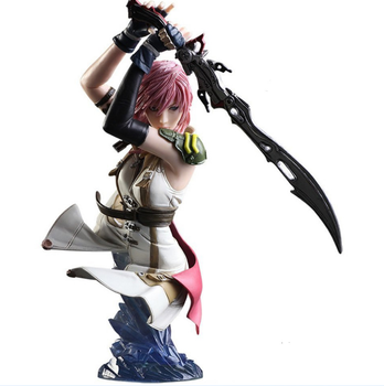 Japanese Anime Action Beautiful Sexy Girl Angel Warrior With Sword Figure Statue Bust