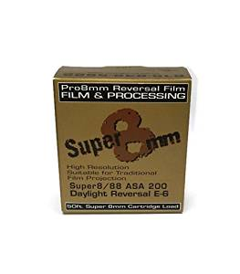 Pro8mm 019962154805 Super 8mm Film Super 8/88 Color Reversal ASA 200