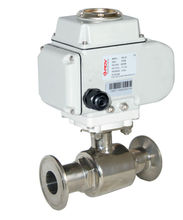 hot sale 3A pn16 electric sanitary stainless steel ball valve