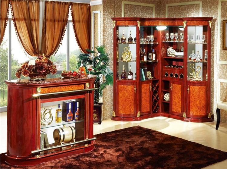Antique Living Room Furniture Wood Cabinet Corner With Bar Table ...