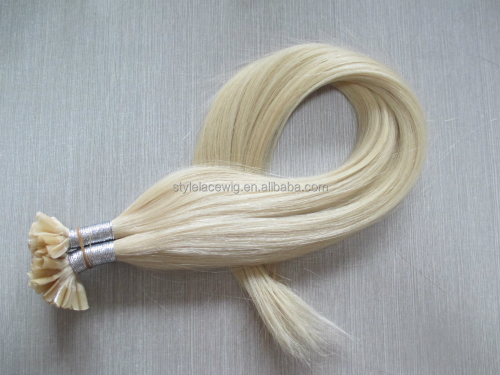 lowest price nail hair extension, Nail/U-tip keratin hair,italian keratin hair extensions