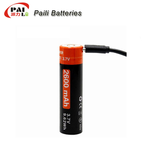 18650 Actual capacity 2600mAh led flashlight battery 3.7V usb rechargeable battery