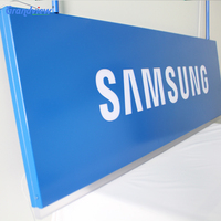 indoor used hanging mobile led sign board, mounted brand logo board led light box signboard