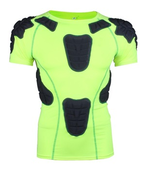 aa5198894 Hot sale sports safe guard padding rugby wear spandex compression padded  shirts