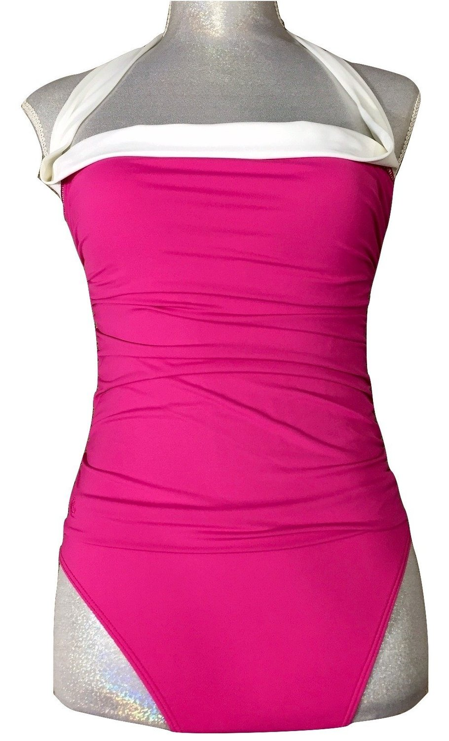 Get Quotations � Lauren Ralph Lauren Swim Suit One Piece Bel Aire Womens 6  Slimming Fit Pink