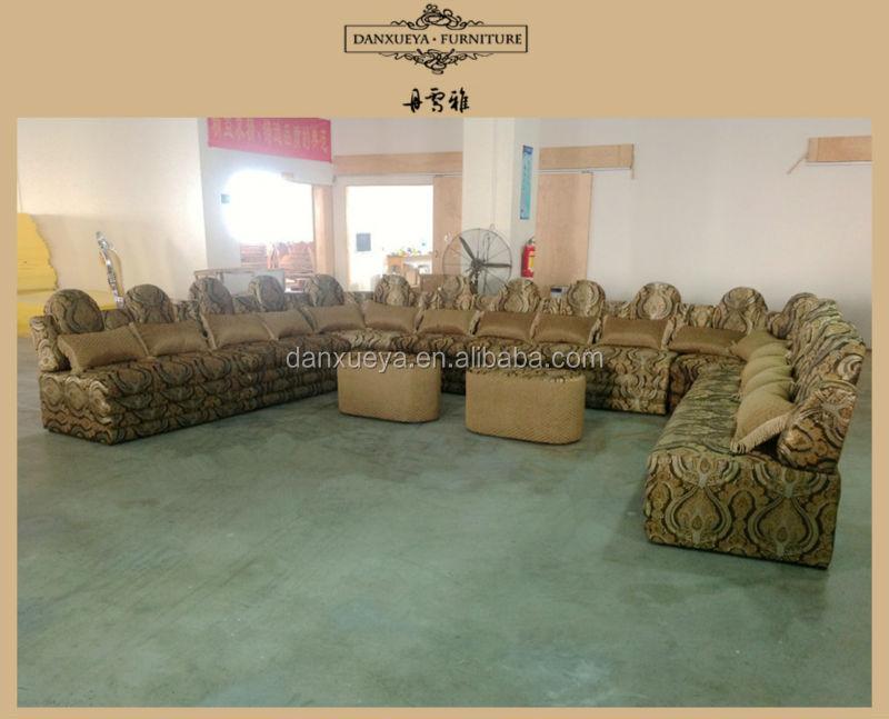 Arabia rabe dubai estilo herradura tejido sof de lujo for Sala de estar estilo arabe